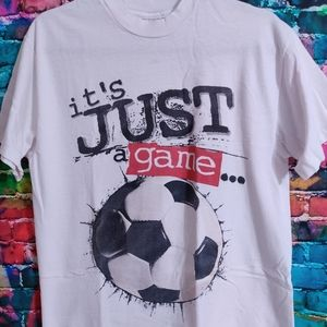 Vintage Soccer It's Just A Game Single Stitched Te